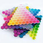 Stack of 3D printed colour charts